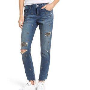 BlankNYC Charm School Girlfriend Cropped Jeans